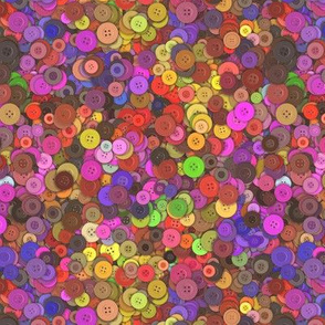 COLORFUL BUTTONS 1 PINK FUCHSIA YELLOW