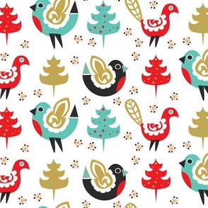 Festive Yule Birds