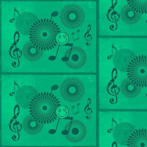 Musical Daze in  Mellow Green Monochromatic - MD 20