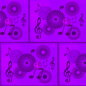 Musical Daze in Monochromatic Purple