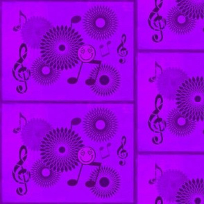 Musical Daze in Vivid  Monochromatic Purple