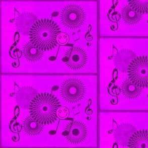 Musical Daze in Magenta and Purple - MD24