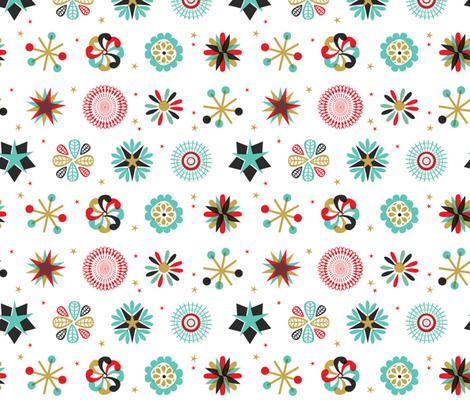Festive Yule Snow fabric by samossie on Spoonflower - custom fabric