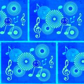 Musical Daze in Monochromatic Azure Blue - MD25