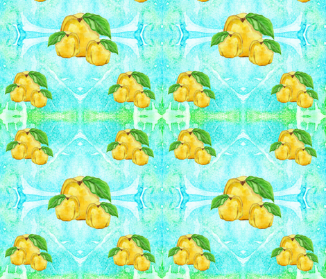 Golden quince 62-1 030517 fabric by yu_design on Spoonflower - custom fabric