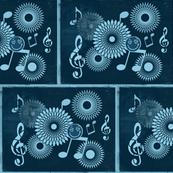 Musical Daze in Teal Blue Medley - MD28