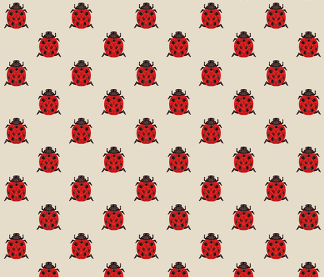 Ladybugs fabric by hejamieson on Spoonflower - custom fabric