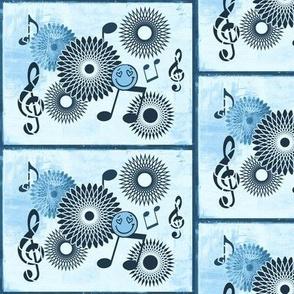 Musical Daze in Blue on Blue - MD31