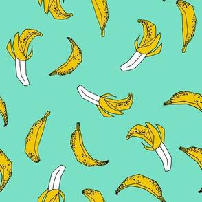 bananas fabric // banana summer fruit hand-drawn pattern illustration by andrea lauren - bright