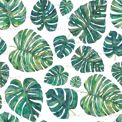 Green Tropical Leaves Smaller
