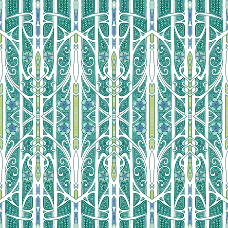 Beyond the Driveway Gate fabric by edsel2084 on Spoonflower - custom fabric