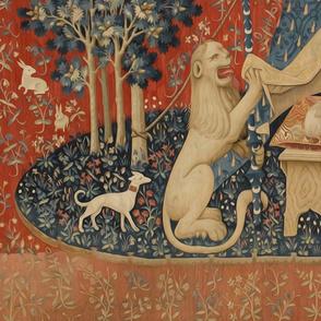 Lady and the Unicorn Desire Large Panel