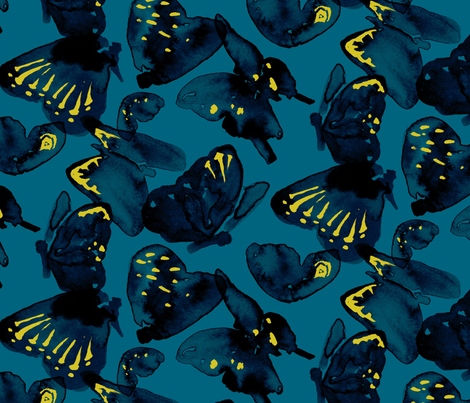 Night Butterflies fabric by jamie_runnells on Spoonflower - custom fabric