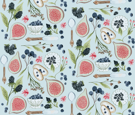 Blueberry Breakfast fabric by thestorysmith on Spoonflower - custom fabric