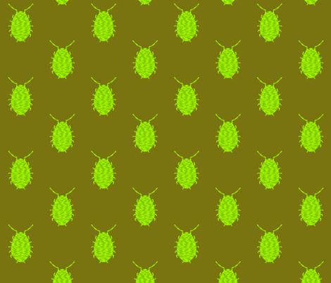 Chubby bed bug beetle fabric by hejamieson on Spoonflower - custom fabric