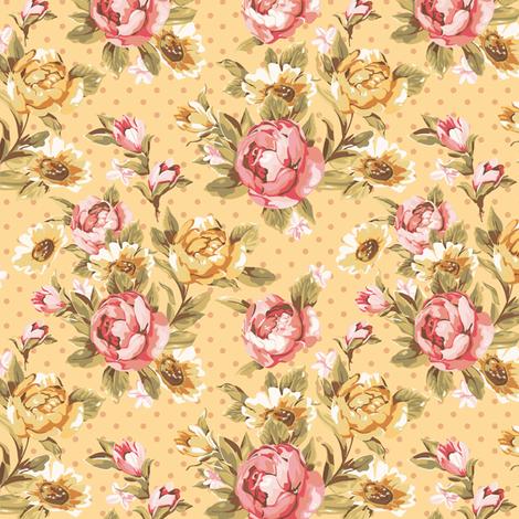 Timeless - Roses, Gold fabric by malibu_creative on Spoonflower - custom fabric