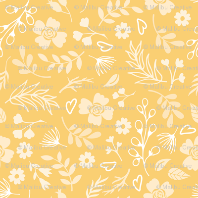 Timeless - Mini Floral, Gold