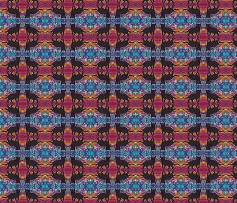 Groovy Black Cat fabric by peaceofpi on Spoonflower - custom fabric