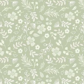 Timeless - Mini Floral, Green