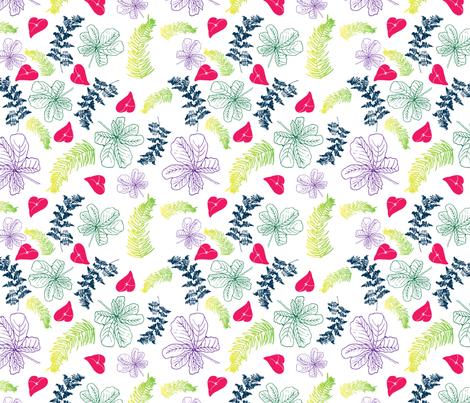 Tropical Pattern #3 fabric by francescamieledesign on Spoonflower - custom fabric