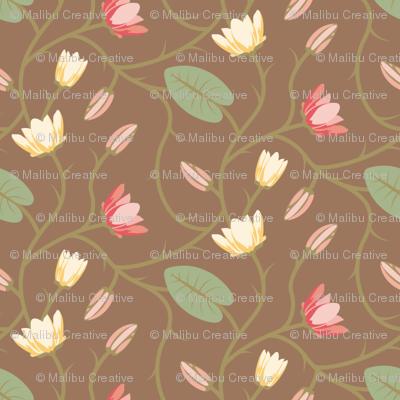 Timeless - Floral Vine, Brown