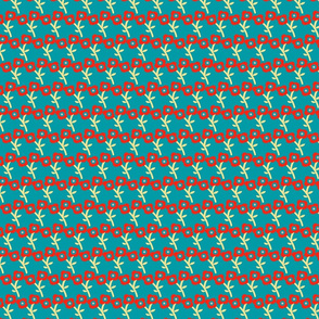 FLOWERS DARK TEAL