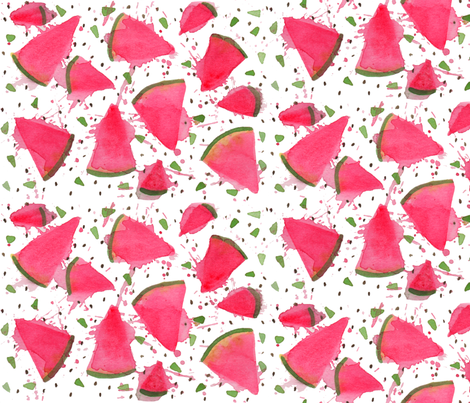 Watermelon Explosion fabric by mamacreative on Spoonflower - custom fabric