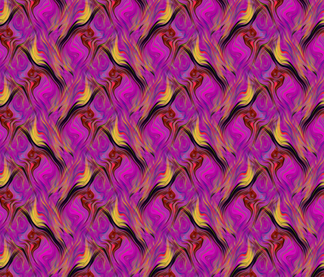 GARDEN LATTICE LAVA LAMP FUCHSIA YELLOW PSYCHEDELIC FEVER fabric by paysmage on Spoonflower - custom fabric