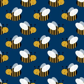 bumble bee fabric bees garden summer cute stripes baby nursery navy