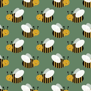 bumble bee fabric bees garden summer cute stripes baby nursery green