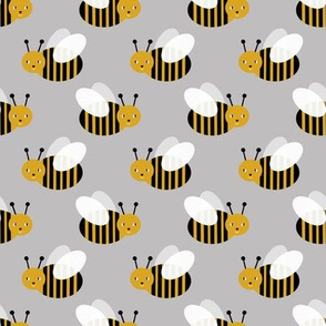 bumble bee fabric bees garden summer cute stripes baby nursery grey