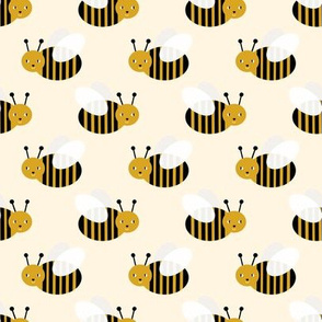 bumble bee fabric bees garden summer cute stripes baby nursery cream