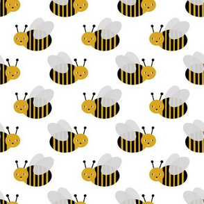 bumble bee fabric bees garden summer cute stripes baby nursery white