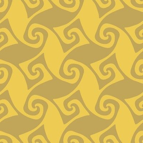 spiral trellis - wheat and gold