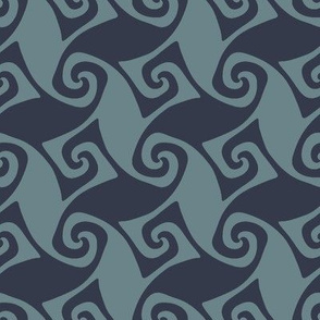 spiral trellis - navy and slate