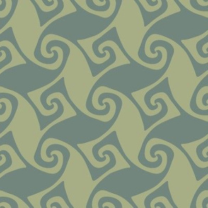 spiral trellis - sage and green slate