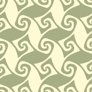 spiral trellis in sagebrush and linen