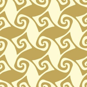spiral trellis - linen and wheat