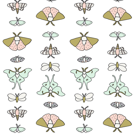 Lepidoptera // by Sweet Melody Designs fabric by sweetmelodydesigns on Spoonflower - custom fabric