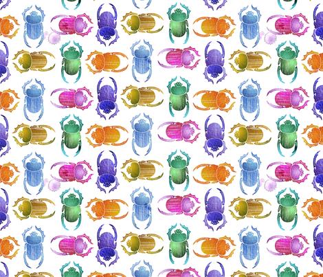rainbow scarabs fabric by hannafate on Spoonflower - custom fabric