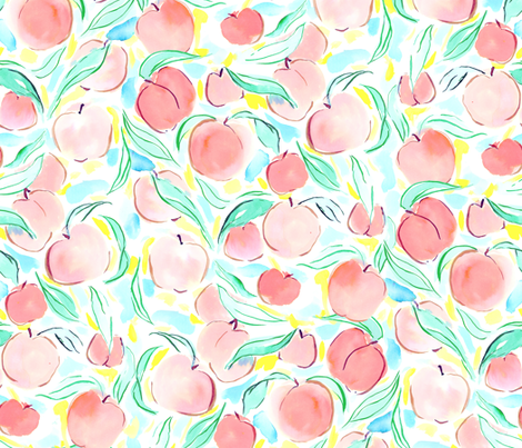 Peachy fabric by mjmstudio on Spoonflower - custom fabric
