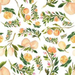 """18"""" Floral Peaches"""