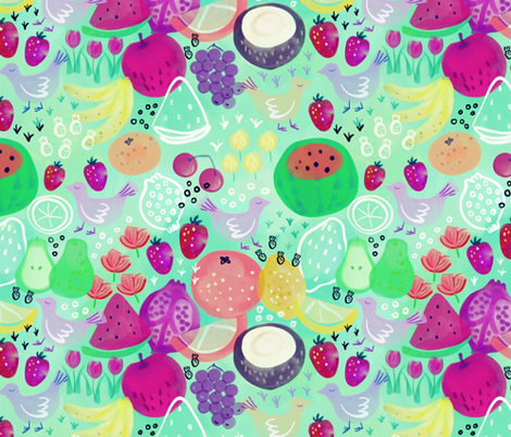 Fruitti Tutti fabric by susan_polston on Spoonflower - custom fabric