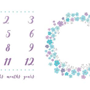 Purple Floral Milestone Blanket