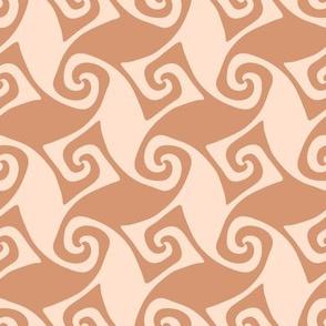 spiral trellis - desert peach