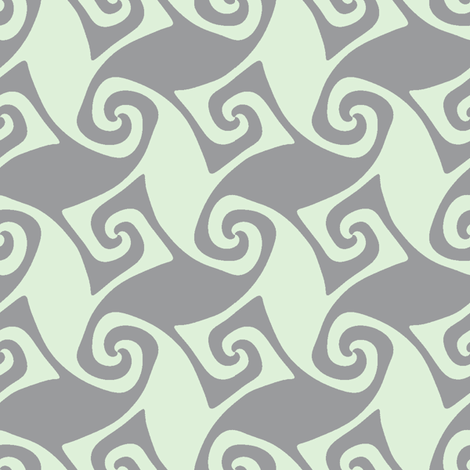 spiral trellis - cucumber and grey fabric by weavingmajor on Spoonflower - custom fabric