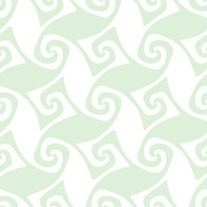spiral trellis - cucumber and white