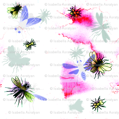 insects in mixt media