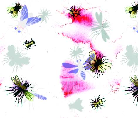 insects in mixt media fabric by isabella_asratyan on Spoonflower - custom fabric