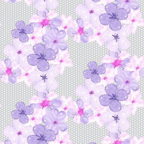 Watercolor Flower || pansy violet pink purple floral botanical textured  gray grey _ Miss Chiff Designs